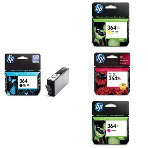 HP 364XL Cartucho de Tinta Original de alto rendimiento, 4 unidades, negro, cian, magenta y amarillo