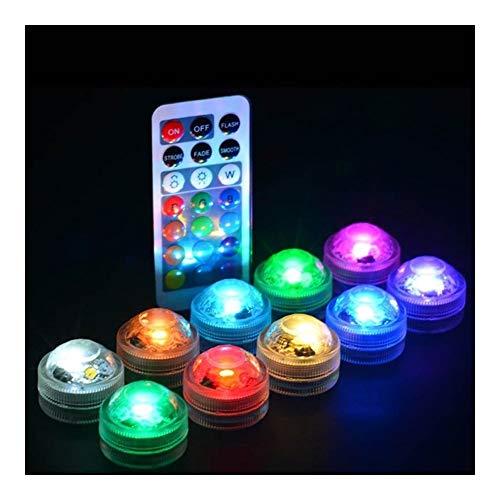 Afstandsbediening Kleurrijke Waterdichte Ronde Vorm LED Aquarium Licht Kaars Lamp Vis Tank Decoratie 1 Stks Kunststof 1 Ps
