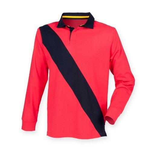 MAKZ Front Row Veste Diagonale House Sport Rugby Polo pour Homme - Multicolore - Large