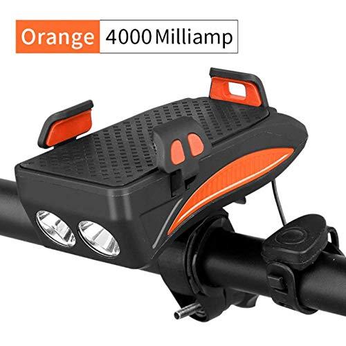 Led-Fahrradleuchte Mit Summer-Summer-Hornbatterie Integrierte USB-Aufladung 4-In-1-Fahrradleuchte