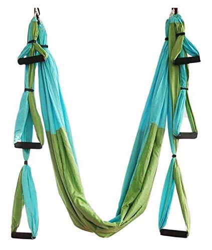 AYCPG Yoga aérea Hamaca, Yoga Correas aérea Hamaca Hamaca invertido invertido Yoga con el Colgante de la Placa y la extensión de la Correa del Sistema Completo lucar