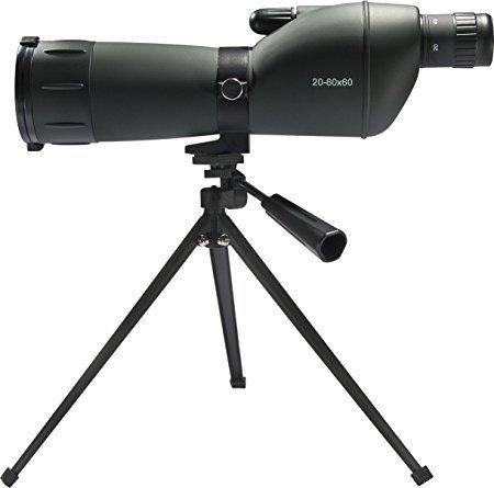 GOTICAL 20-60x60mm Zoom Spotting Scope Monocular Telescope with Tripod Soft Case Spotting Scope New