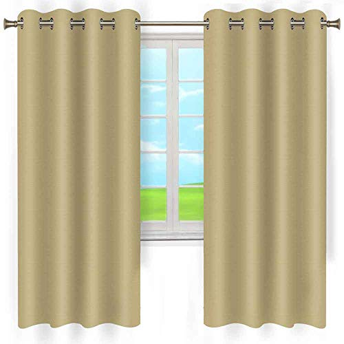 LshyMn Light Brown Curtains Blackout Curtains for Bedroom,Thermal Insulated Window Treatment Home Drapes, Set of 2 Durable Curtain Panels with Grommet W52 x L84 Inch