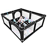 Baby Playpen,Playpens for Babies, Extra Large Playpen for Toddlers,Kids Safety Play Center Yard with gate, Sturdy Safety Baby Fence Play Area for Babies, Toddler, Infants