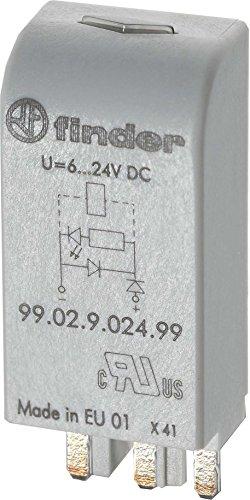 Finder serie 99 - Módulo led+diodo 6-24vdc verde