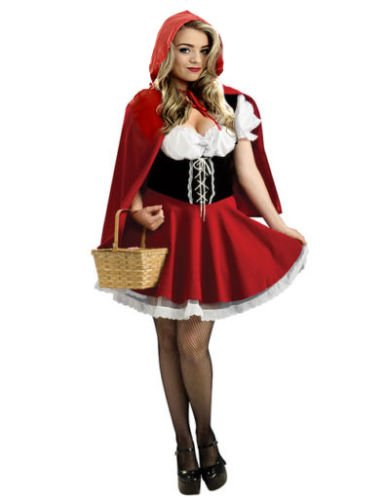Forever Young Deluxe Little Red Riding Hood Storybook Fancy Dress Costume (Women: 10)