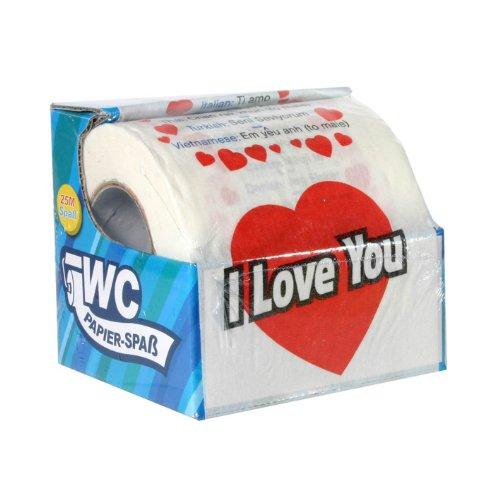 MIK Funshopping Toilettenpapier I Love You