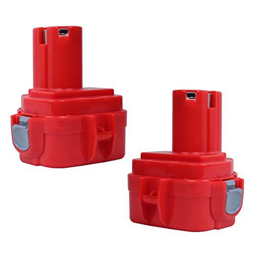 SHGEEN 2Packs 12V 3.0Ah NiMh Batería de repuesto para Makita PA12 1220 1222 1233S 1233SA 1233SB 1233 1234 1235 1235B 1235F 192696-2 192698-8 192698-A 193138-9 193157-5 6317D 6271D 6270D