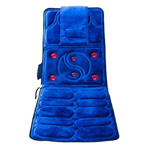 XY&CF- Massageliegen Massager Hals Taille Multifunktionskörper Schulter zurück elektrisch beheizte Matratze Kissen Kissen (166 * 58cm) (Farbe : B)