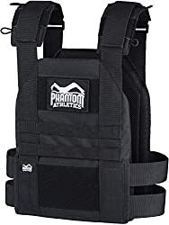 Phantom Athletics Weight Vest, Weights, Black, One Size