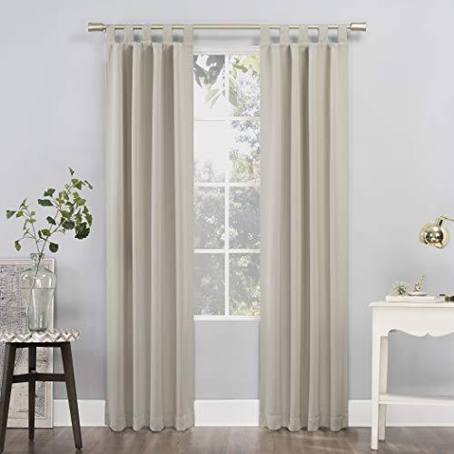 "Sun Zero Easton Blackout Tab Top Curtain Panel, 40"" x 84"", Pearl"