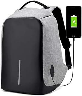 USB شحن مكافحة سرقة حقيبة كمبيوتر محمول حقيبة الظهر رجال الأعمال والسيدات رمادي