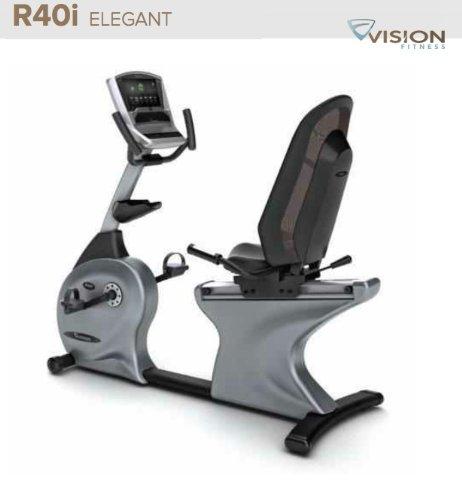 VISION FITNESS R40i Elegant Halbliegeergometer - Fahrradtrainer - Ergometer