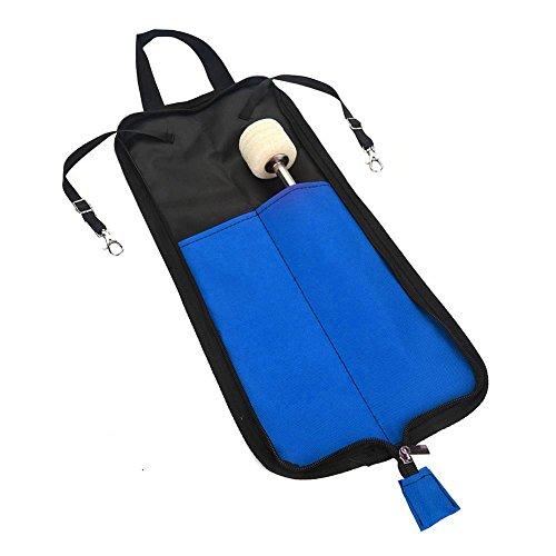 Bolsa de Baquetas, 5 Colores Palillo del Tambor Bolsa de Almacenamiento Bolso Portatil Drumstick(Azul)