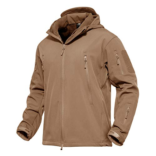 KEFITEVD Men's Tactical Soft Shell Jackets Warm Waterproof Fleece Hunting...