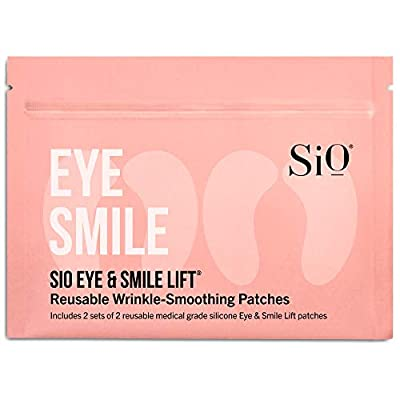 SiO Beauty Eye And Smile Lift Anti-Wrinkle Patches 4 Week - Overnight Under Eye Mask Pads For Dark Circles - Silicone Skin Treatment For Wrinkles Fine Lines, Eye & Smile Lift (4 Pad Pack) by SiO Beauty
