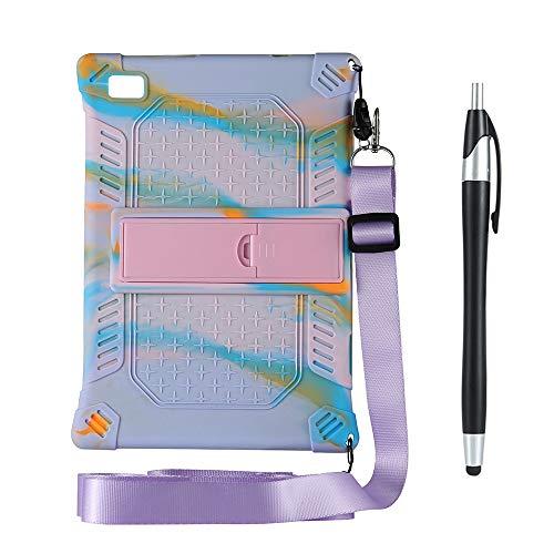 Huante Funda para tablet Teclast M40 P20HD de 10,1' (silicona, con función atril), color morado y rosa
