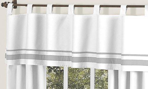 Sweet Jojo Designs White and Gray HotelModern Window Valance