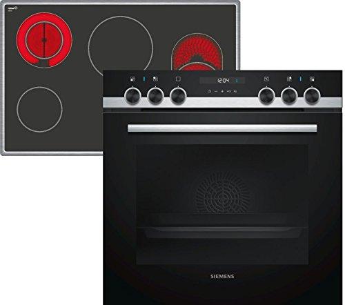 Siemens EQ523KA00 iQ500 Herd-Kochfeld-Kombination / Edelstahl / cookControl 10 Automatikprogramme / Schnellaufheizung / 3D Heißluft plus / Bräterzone
