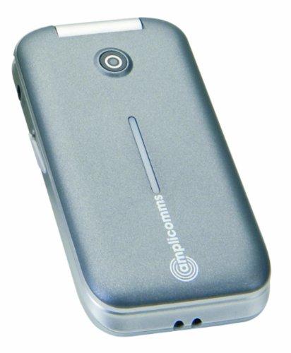 Amplicomms PowerTel M7000 Klapphandy mit großen Tasten (6,4 cm (2,5 Zoll) Bildschirm, Bluetooth) grau/silber
