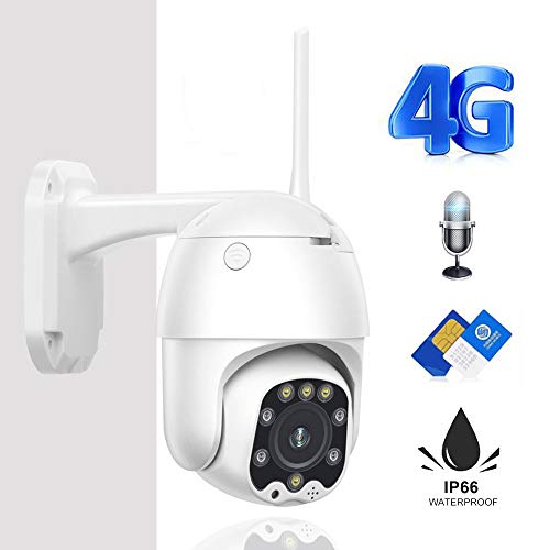 Cámara CCTV 3g 4g Tarjeta Sim WiFi Inalámbrico Ptz Cámara IP 2mp HD Seguridad Vigilancia Exterior Audio Bidireccional Camhi 1080p 1080P Versión WiFi