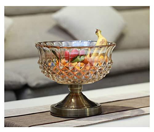 Panier à fruits Assiette de fruits en verre créatif, grand bol à fruits rond européen, salon, table basse, bol à fruits - décoration pour la maison -0 (Couleur : B)