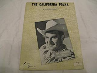 THE CARLIFORNIA POLKA DALE FITZSIMMONS 1946 SHEET MUSIC SHEET MUSIC 362