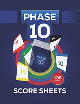 Phase 10 Score Sheets  Large Score Pages for Scorekeeping Phase 10 Cards   Phase Ten Score Pads
