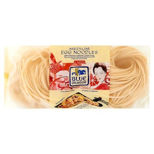 Blue Dragon medie Egg Noodles 3 x 300gm
