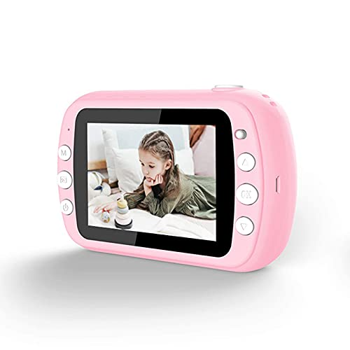 KDMB Cámara La Pantalla LCD de 3,5 Pulgadas Puede Tomar fotografías, imprimibles y Recargables, Regalos de cumpleaños de Bricolaje para niños y niñas.