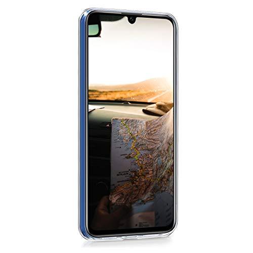 kwmobile Huawei Honor 10 Lite Hülle - Handyhülle für Huawei Honor 10 Lite - Handy Case in Travel Schriftzug Design Schwarz Mehrfarbig Transparent - 2