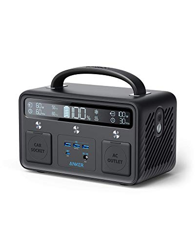 Anker PowerHouse II 400, 300W/388.8Wh Portable Power Station, 110V AC Outlet/60W USB-C Power Delivery Portable Generator for Road Trips, Camping, Emergency Power, and More