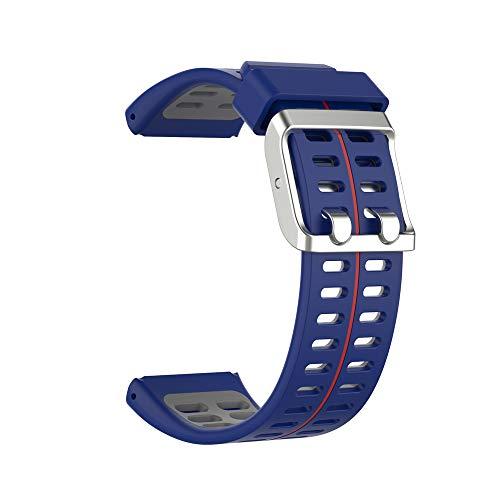 KINOEHOO Correas para relojes Compatible con Polar V800 Pulseras de repuesto.Correas para relojesde siliCompatible cona.(Gris azul)
