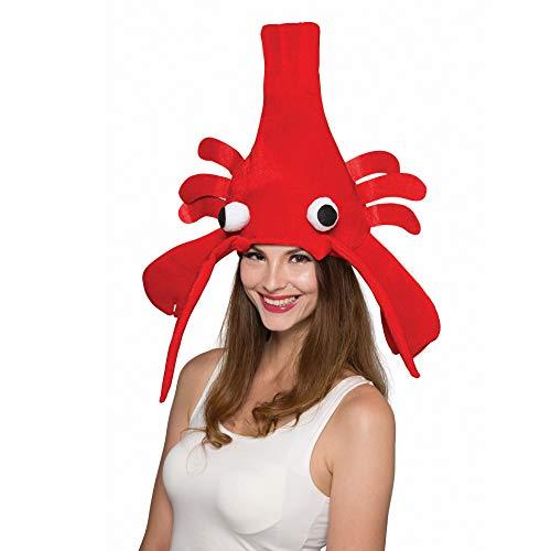 SYMTOP Erwachsene Hummer Hut Partyhüte Kopfbedeckung Zubehör rot lustig Cosplay Kostüm Weihnachten Halloween Party