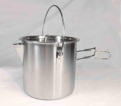 Teton Falls 52/68 Oz Stainless Steel Camping Pot Cooking Kettle