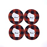 Wisconsin Coasters Silhouette Home State Neoprene (Set of 4)