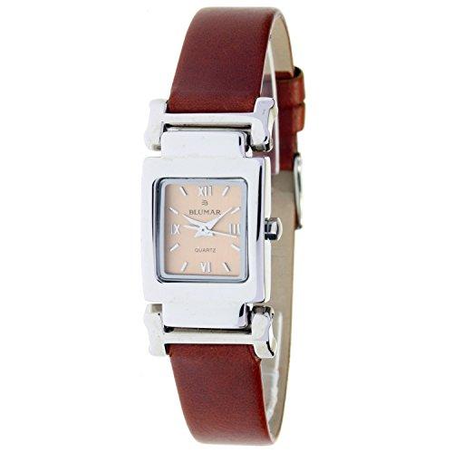 Blumar Bl-08317 Reloj Analogico para Mujer Caja De Acero Inoxidable Esfera Color Marron