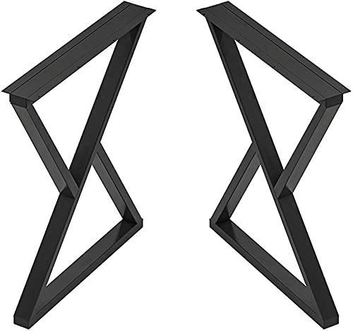 ZXLRH 2 Patas de Muebles Ajustables, decoración rústica, Patas de Mesa de Acero en Forma de triángulo, Patas de Barra, Patas de Mesa de Cocina Industrial Moderna, Patas de Mesa de Centro