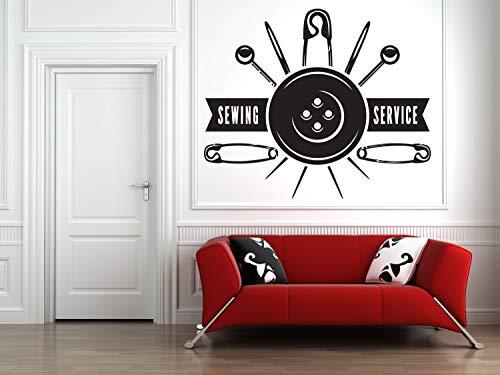 Todghrt Atelier Wandaufkleber Schneidershop Nähen Studio Decor Sticker Fashion Kleidung Frauen Sticker Shop Tailor Aufkleber Individuell Personalisierte Wand Vinyl Sricker