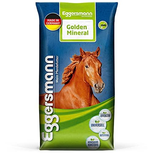 Eggersmann Golden Mineral - Aliment minéral pour Chevaux et poneys - pour compléter l'alimentation de Base - 25 kg