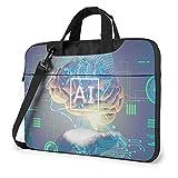 Bolsa de hombro para ordenador portátil Inteligencia AI Bolsa de ordenador portátil Bolsa de hombro Messenger Maletín 13/14/15.6 pulgadas