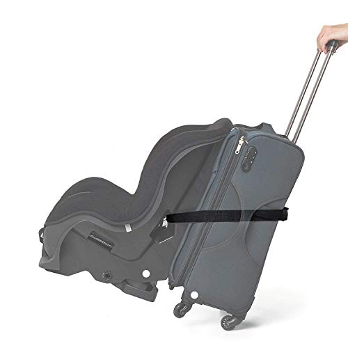 Luggage Car Seat Strap, Durable Car Seat Travel Belt, Convert Your Car Seat and Carry-on Luggage into an Airport Cart