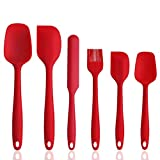 OneCut Silicone Spatula Set,6 Piece Spatulas for Nonstick Cookware,High Heat Resistant One Piece...