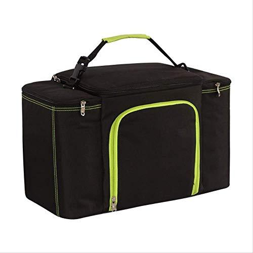 OPLJ - Bolsa de hielo para coche de pícnic de gran capacidad, bolsa de transporte de aluminio aislante, por lo que cuando la bolsa es de 45 cm x 22 cm x 28 cm, capacidad para ir de camping o picnic