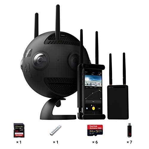 Insta360 PRO 2 & Farsight, Professional 360 8K 3D Camera (Memory Card Bundle - w/ 7X Memory Cards, 7X Card Readers & Data Hub)