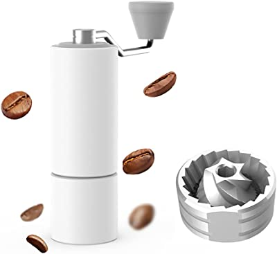 TIMEMORE Chestnut C2 Manual Grinder Portable grinding Hand Coffee Grinder Grind Machine Mill with Metal Bean Canister,White