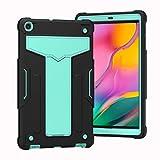 Tablet PC Bolsas Bandolera Case para la pestaña Galaxy A 10.1 2019, cubierta de protección contra caídas a prueba de golpes resistentes con funda de cuerpo completo híbrido de tres capas para Samsung