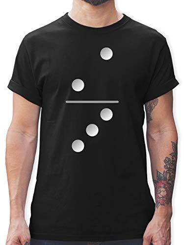 Karneval & Fasching - Dominostein 2-3 - M - Schwarz - Geschenk - L190 - Tshirt Herren und Männer T-Shirts