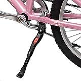 自転車 スタンド キックスタンド 六角レンチ付き 長さ調節可能 軽量 片足 アルミニウム合金製 24インチ~26インチ対応 (取り付け方1)