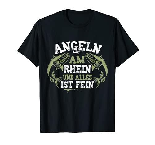 Angeln am Rhein, Zander Angeln Angler T-Shirt
